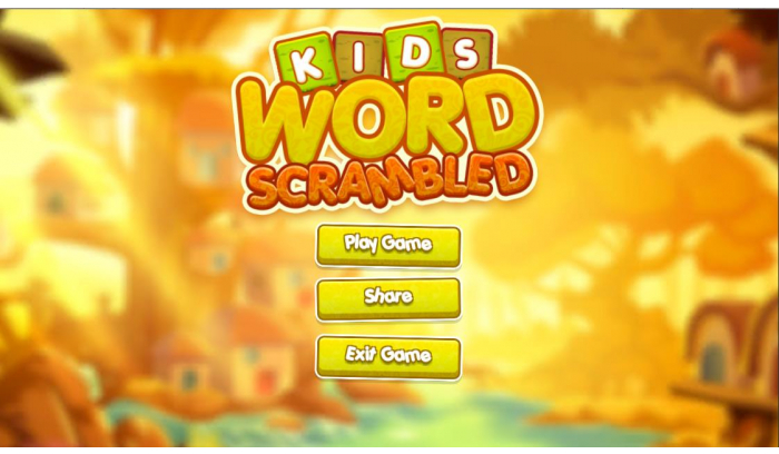 Kids Word Scrambled (Drag And Drop) + Unity3d LTS + Admob Ads Ready + EASY Reskin