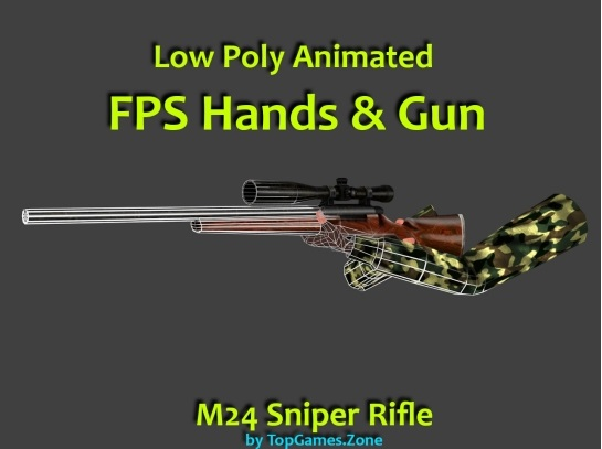 Animated FPS Hands with M24 Sniper Rifle