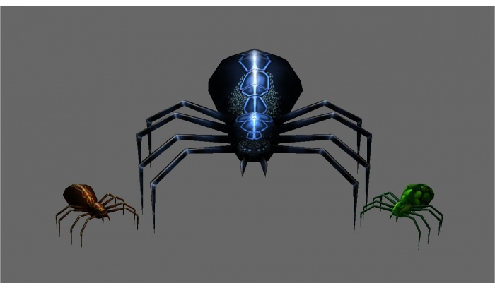 Animated Spiders 3D Models