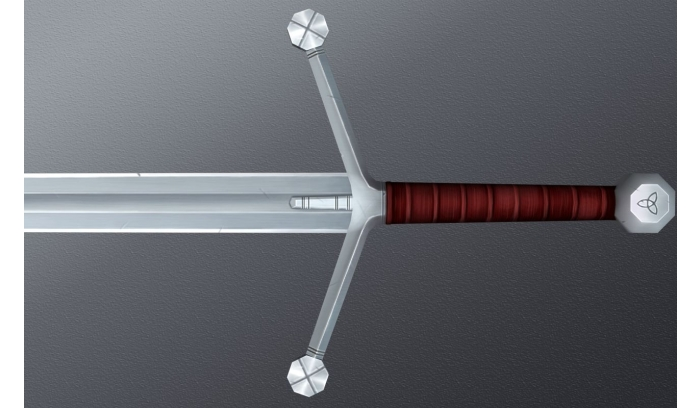Handpainted Swords Low Poly 3D Models