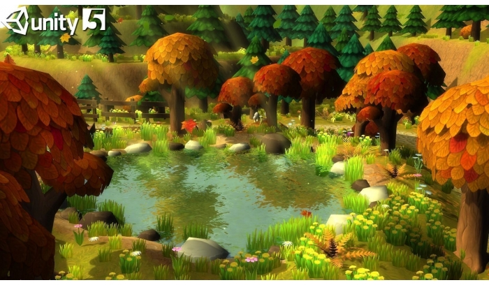 Low Poly Cartoon Forest 3D Models