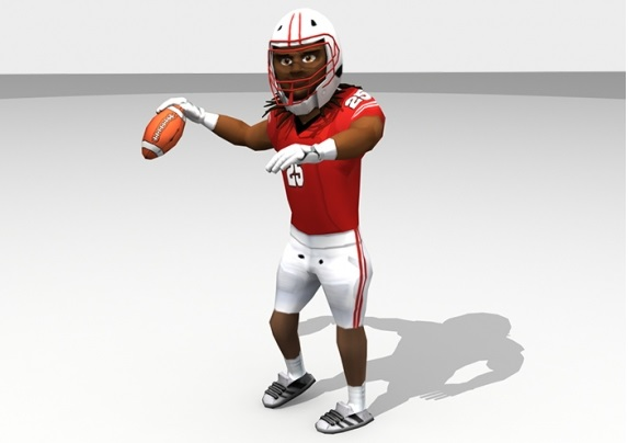 Football Players and Mascots Low Poly 3D Models