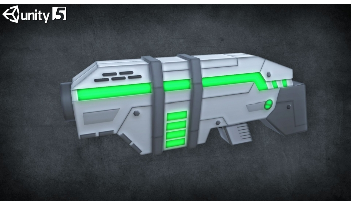 Sci-fi Weapons Low Poly 3D Models
